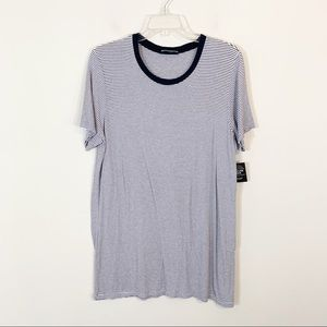 Brandy Melville • Blue Striped Tee OSFM